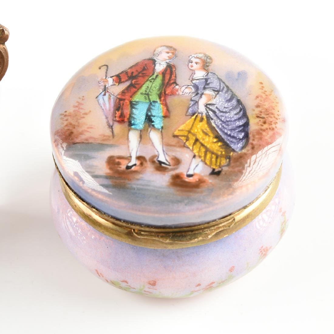 A GROUP OF FOUR CONTINENTAL MINIATURE ENAMEL OBJETS, - 6