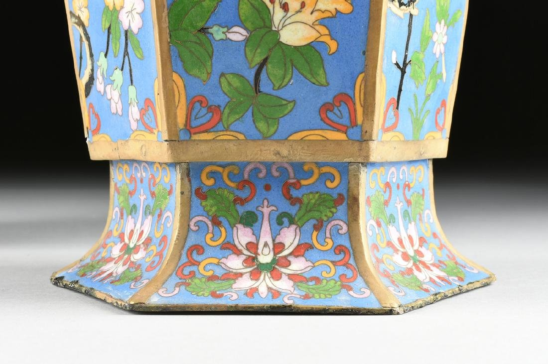 A PAIR OF LARGE VINTAGE CHINESE EXPORT CLOISONNÉ VASES, - 3