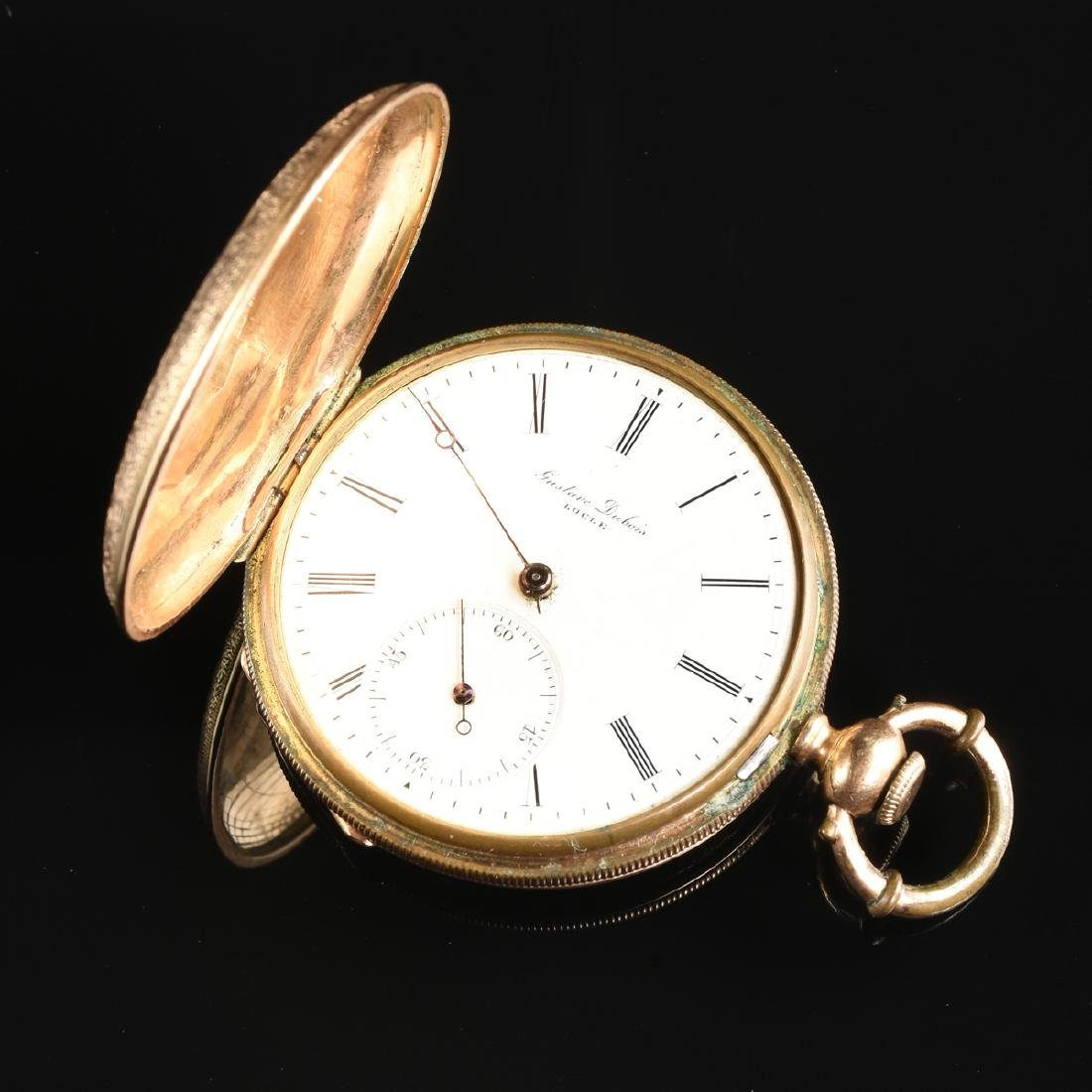 A GROUP OF TWO ENAMELED LADY'S POCKET WATCHES, - 5