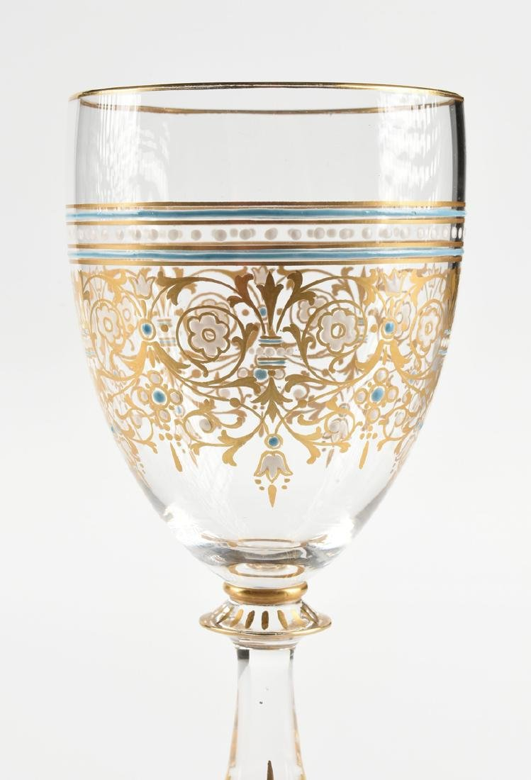 A GROUP OF FOUR BOHEMIAN GILT AND ENAMEL DECORATED WINE - 9