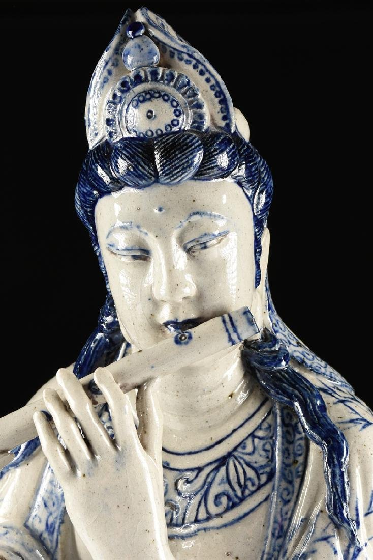 A MING DYNASTY (1368-1644) STYLE BLUE AND WHITE - 6