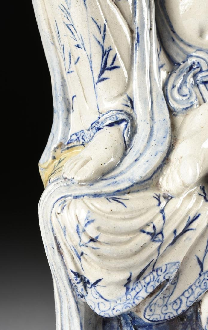 A MING DYNASTY (1368-1644) STYLE BLUE AND WHITE - 8