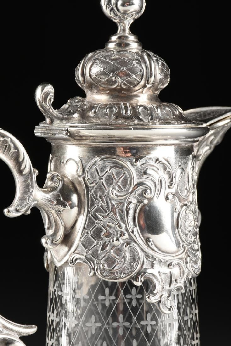 A BRUCKMANN & SOHNE 800 STANDARD SILVER AND ETCHED - 7