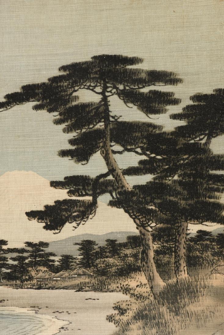 A JAPANESE BIRODO YUZEN CUT VELVET PAINTING, MEIJI - 3
