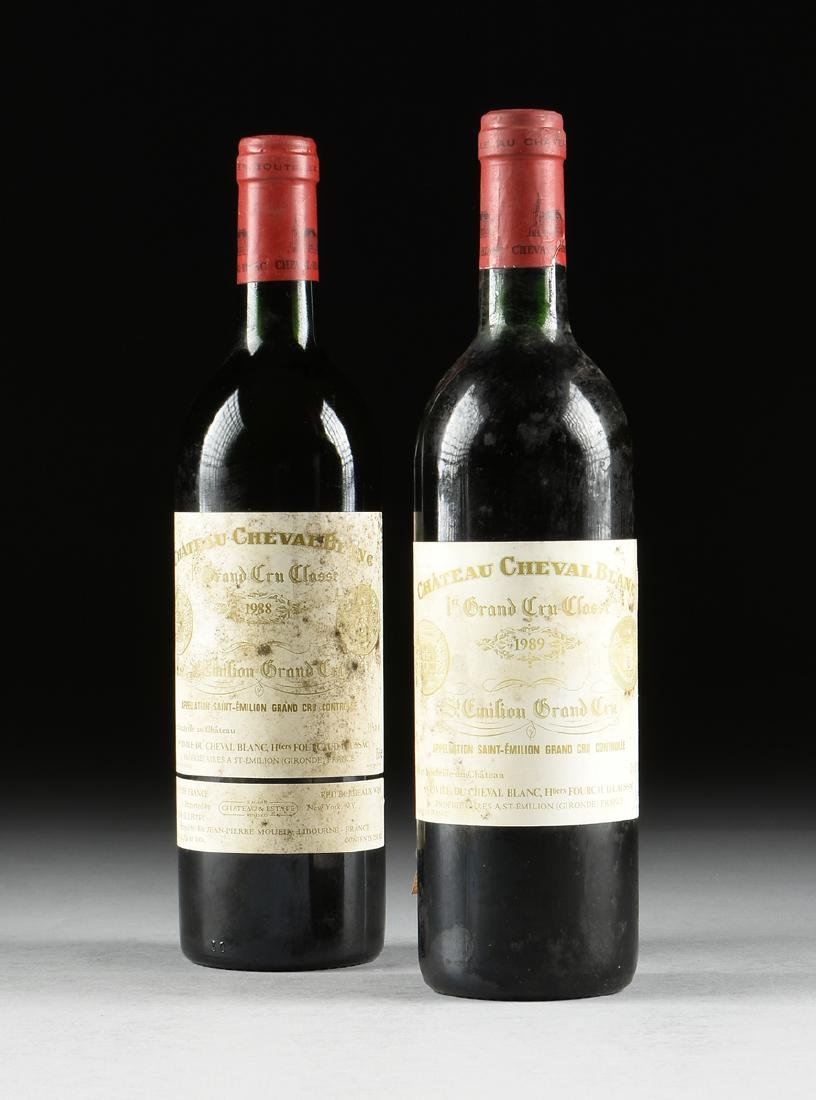 A GROUP OF ONE 1989 AND ONE 1988 BOTTLE OF CHÂTEAU