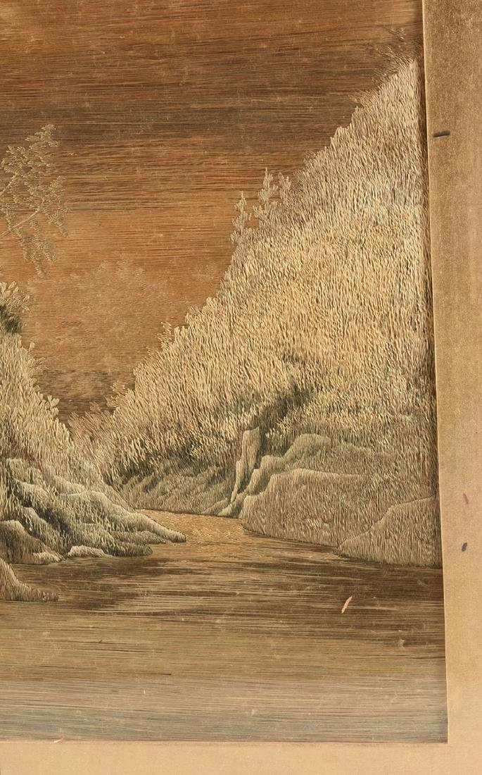 A JAPANESE SILK LANDSCAPE, MEIJI PERIOD (1868-1912), - 3
