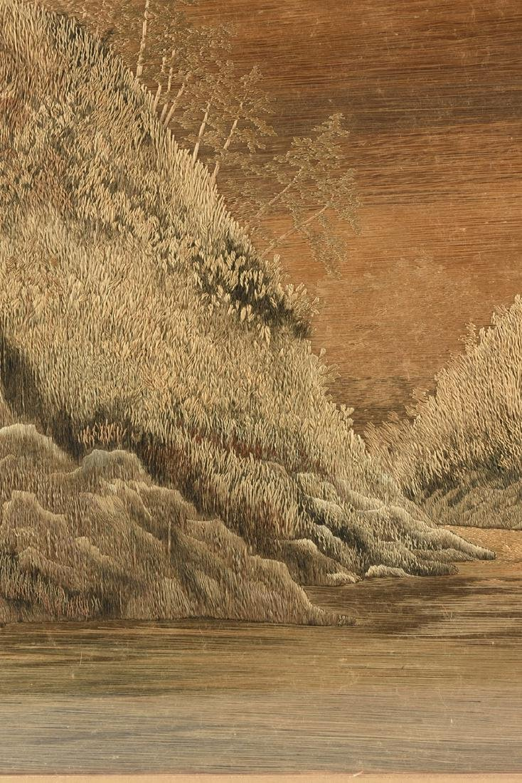 A JAPANESE SILK LANDSCAPE, MEIJI PERIOD (1868-1912), - 4