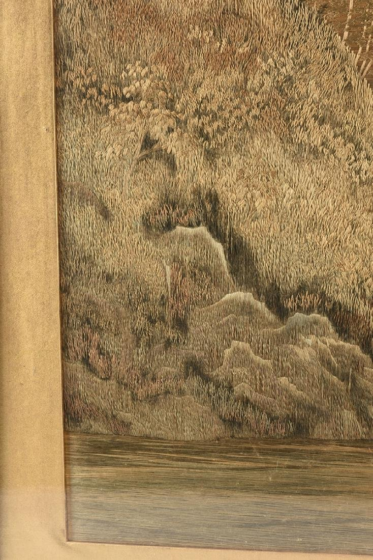 A JAPANESE SILK LANDSCAPE, MEIJI PERIOD (1868-1912), - 5