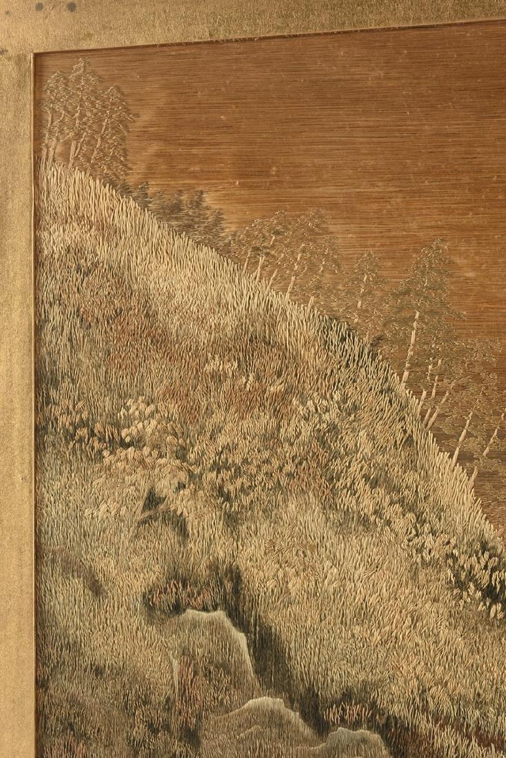 A JAPANESE SILK LANDSCAPE, MEIJI PERIOD (1868-1912), - 6