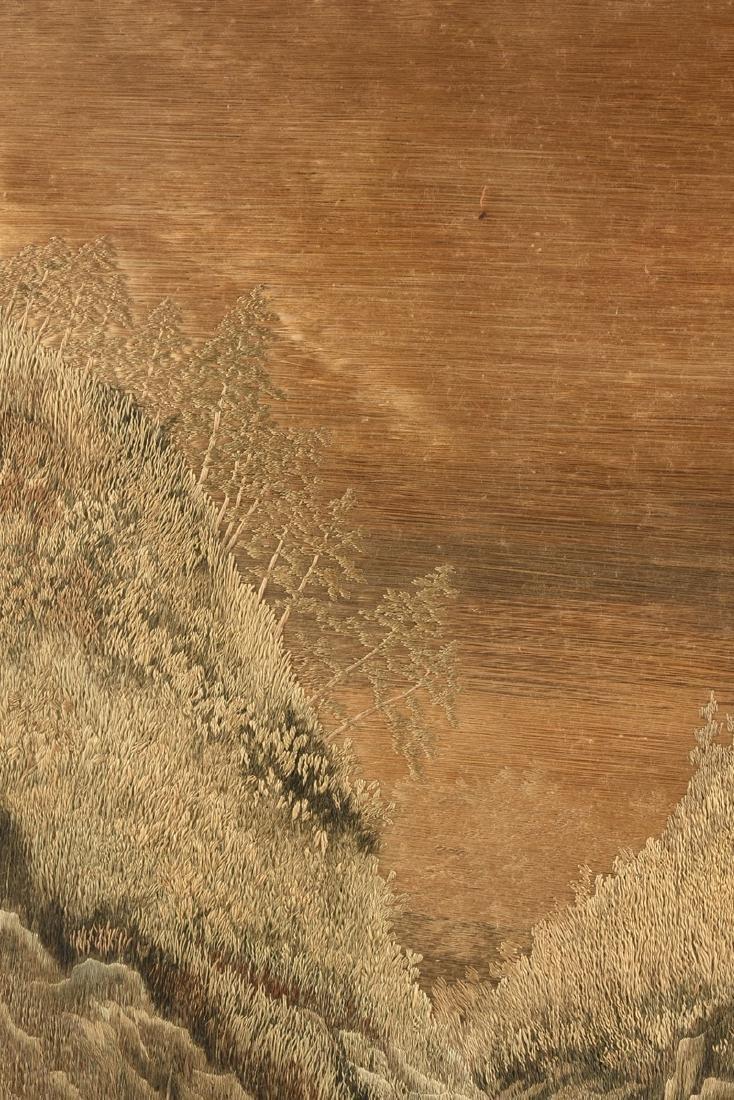 A JAPANESE SILK LANDSCAPE, MEIJI PERIOD (1868-1912), - 7