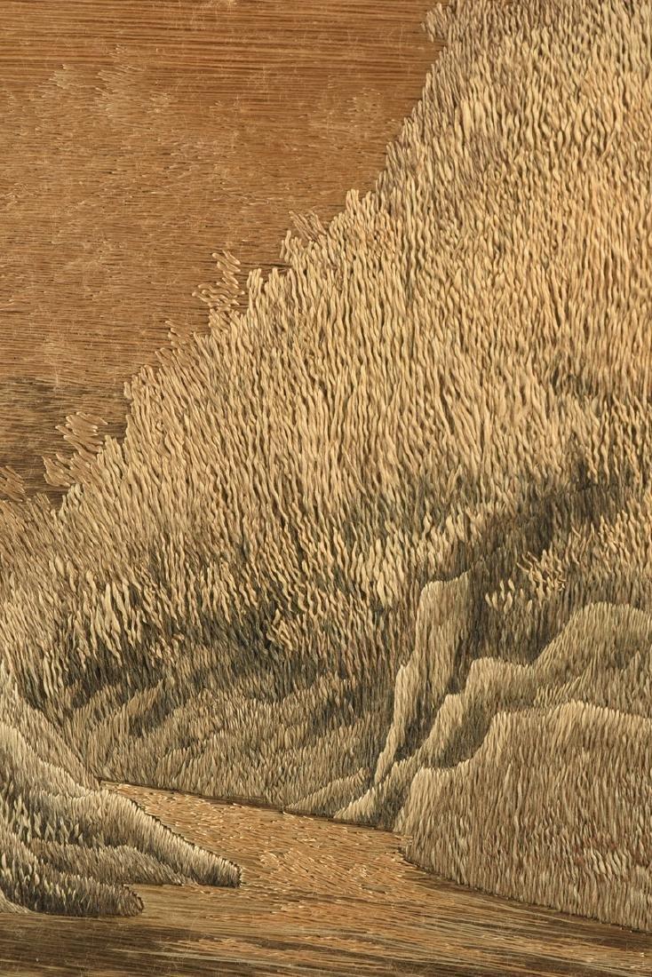 A JAPANESE SILK LANDSCAPE, MEIJI PERIOD (1868-1912), - 8