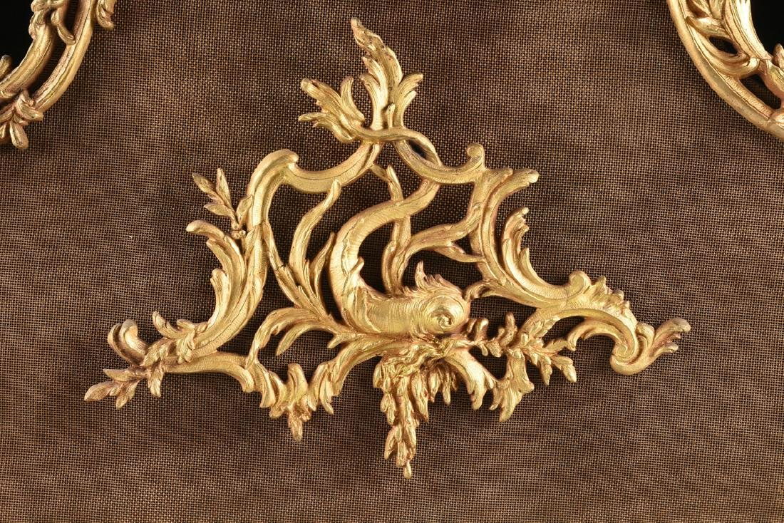 A FRENCH LOUIS XV STYLE GILT BRASS FIRE SCREEN, SECOND - 3