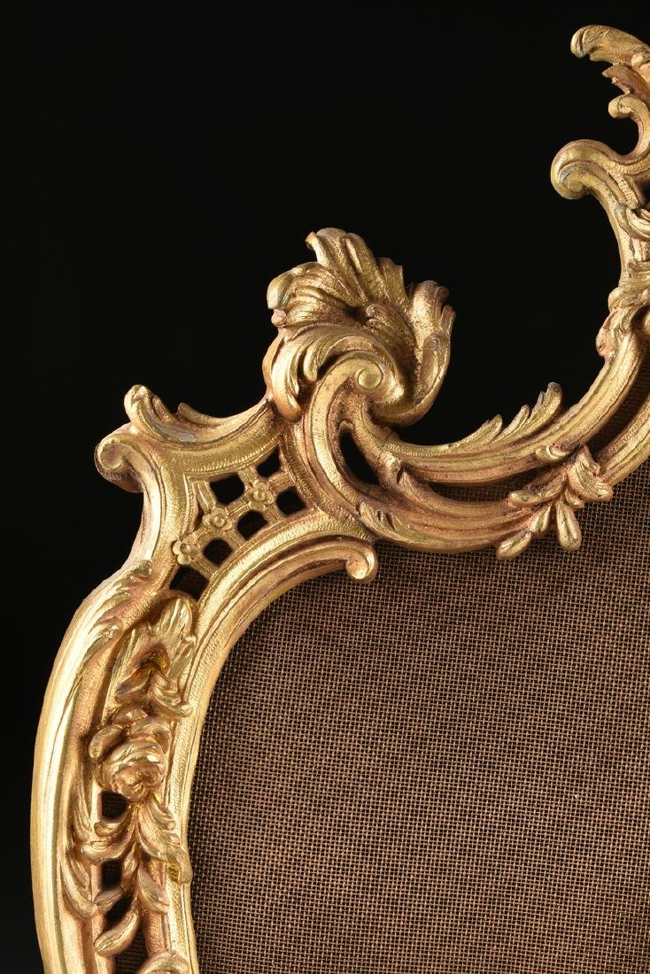 A FRENCH LOUIS XV STYLE GILT BRASS FIRE SCREEN, SECOND - 5