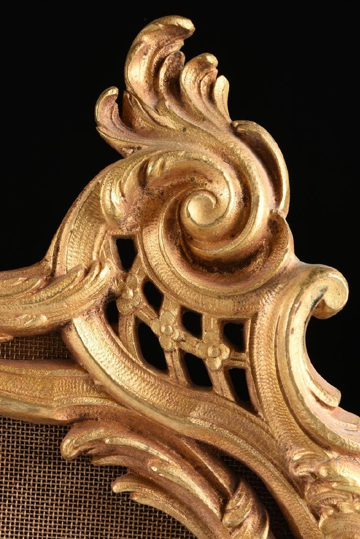 A FRENCH LOUIS XV STYLE GILT BRASS FIRE SCREEN, SECOND - 7