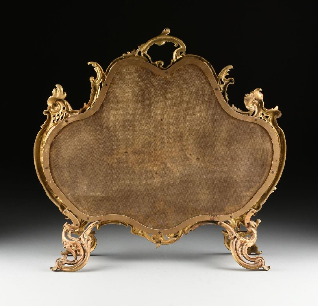 A FRENCH LOUIS XV STYLE GILT BRASS FIRE SCREEN, SECOND - 8