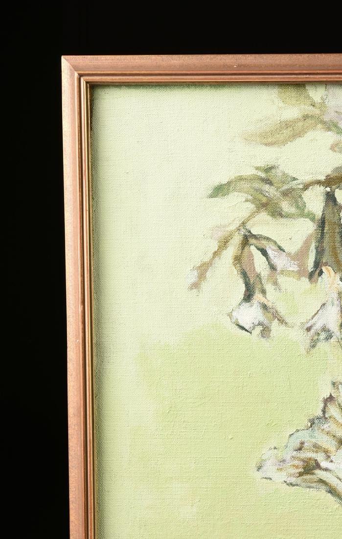 "LOREN DUNLAP (American b. 1932), ""Fleurs Blanches,"" - 10"