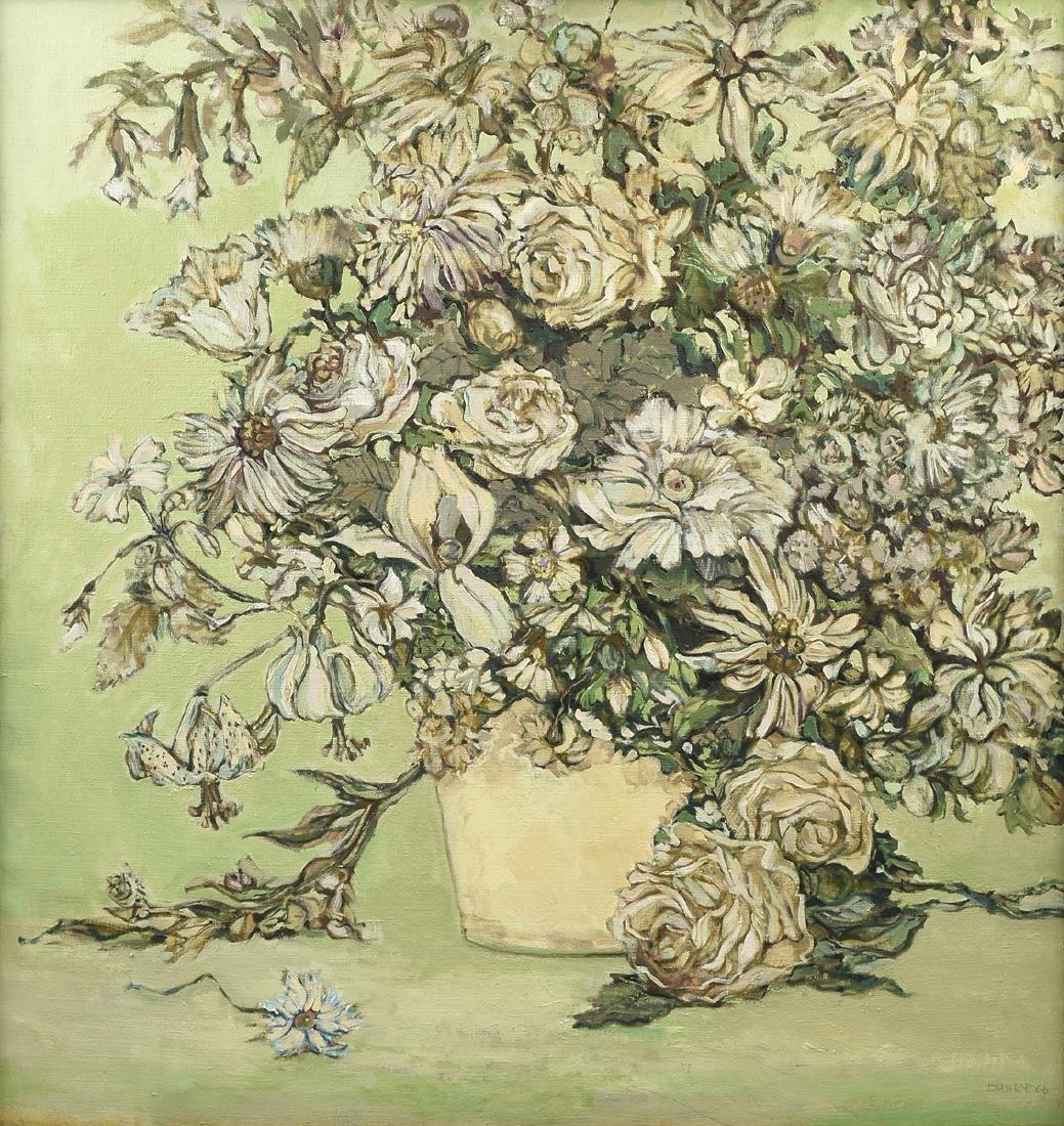 "LOREN DUNLAP (American b. 1932), ""Fleurs Blanches,"""