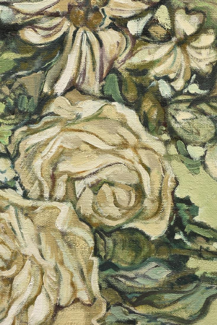 "LOREN DUNLAP (American b. 1932), ""Fleurs Blanches,"" - 4"