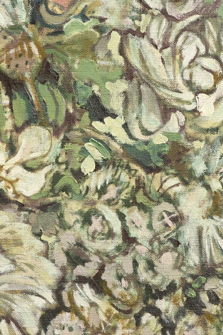 "LOREN DUNLAP (American b. 1932), ""Fleurs Blanches,"" - 5"