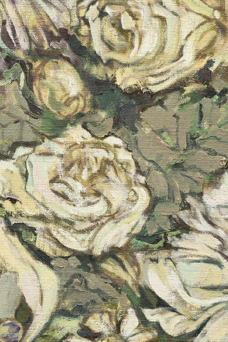 "LOREN DUNLAP (American b. 1932), ""Fleurs Blanches,"" - 6"