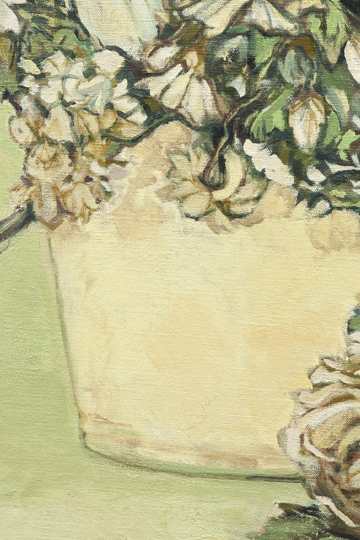 "LOREN DUNLAP (American b. 1932), ""Fleurs Blanches,"" - 7"