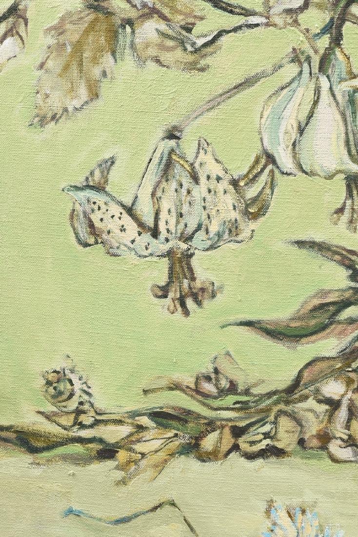"LOREN DUNLAP (American b. 1932), ""Fleurs Blanches,"" - 8"