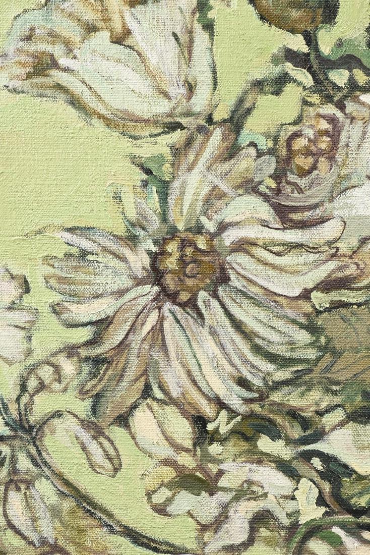"LOREN DUNLAP (American b. 1932), ""Fleurs Blanches,"" - 9"
