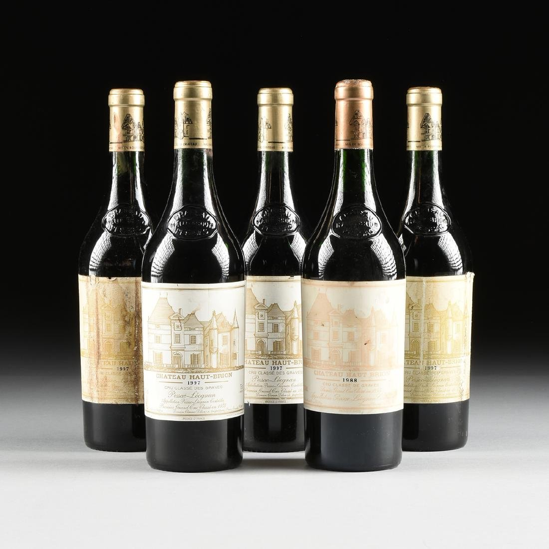 A GROUP OF ONE 1998 AND FOUR 1997 BOTTLES OF CHÂTEAU