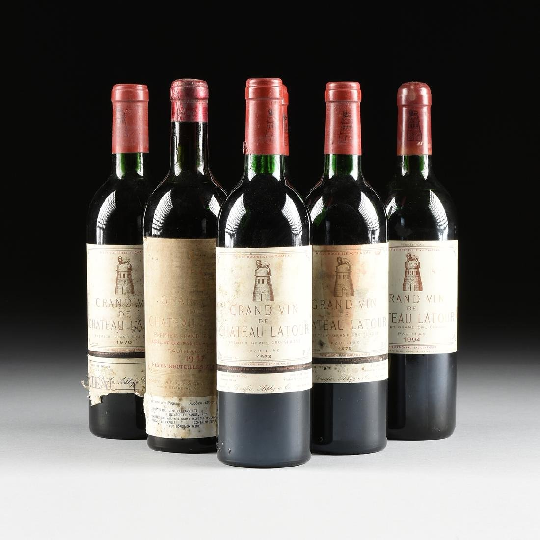 A MIXED GROUP OF SIX BOTTLES OF GRAND VIN DE CHÂTEAU