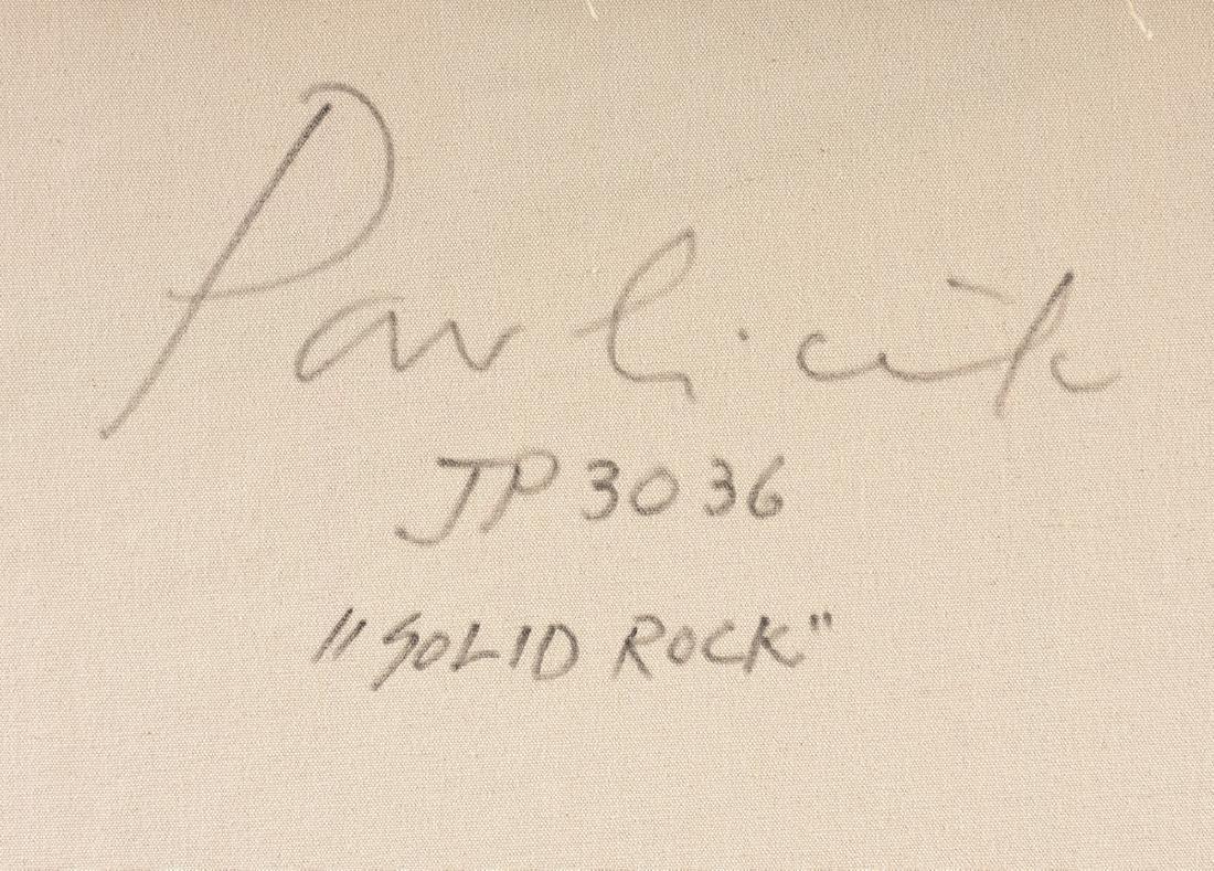"JOHN PAVLICEK (American b. 1946) A PAINTING, ""Solid - 9"