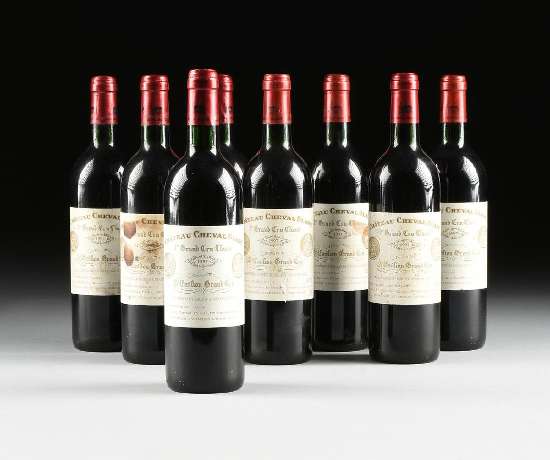 A GROUP OF EIGHT BOTTLES OF 1997 CHÂTEAU CHEVAL BLANC