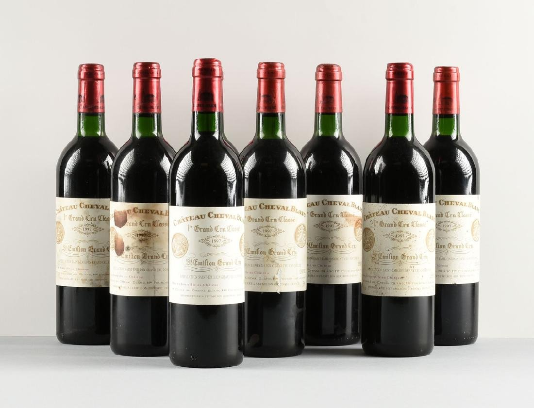 A GROUP OF EIGHT BOTTLES OF 1997 CHÂTEAU CHEVAL BLANC - 2