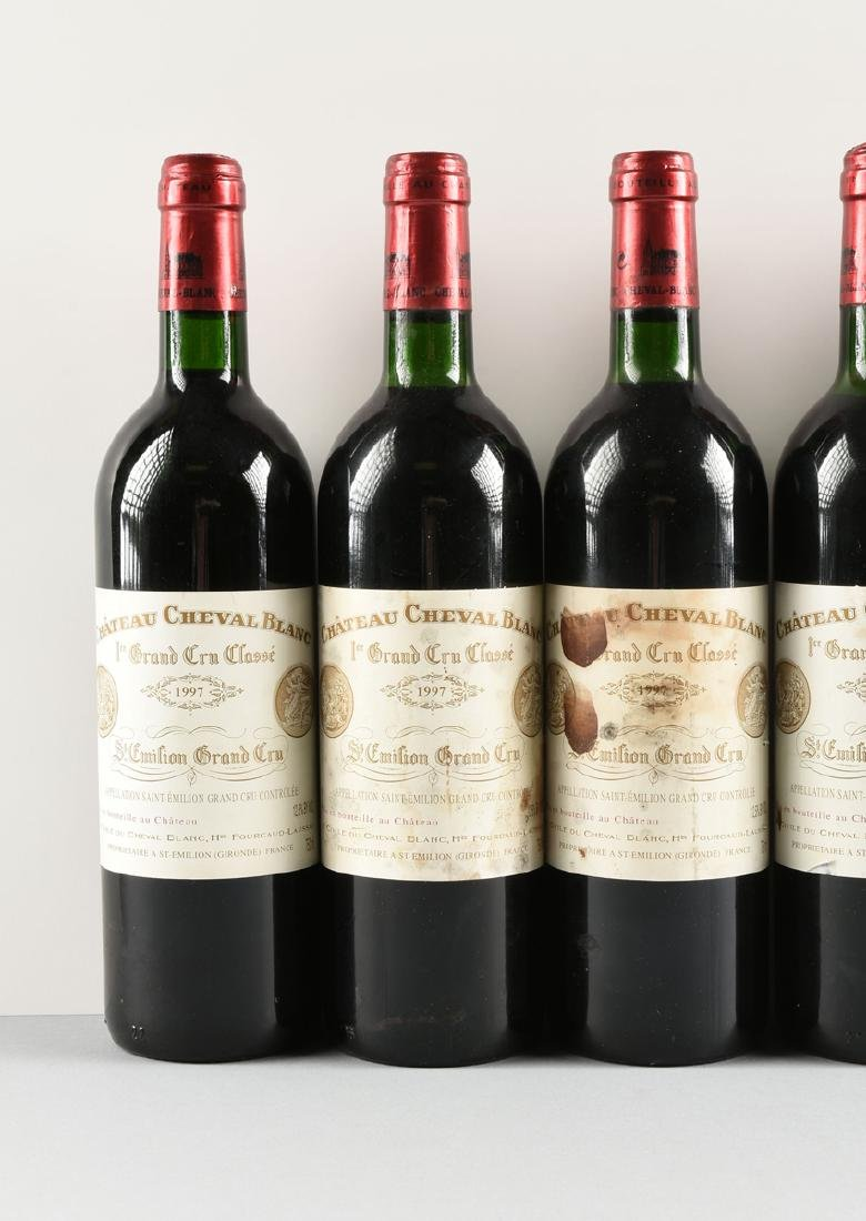 A GROUP OF EIGHT BOTTLES OF 1997 CHÂTEAU CHEVAL BLANC - 3