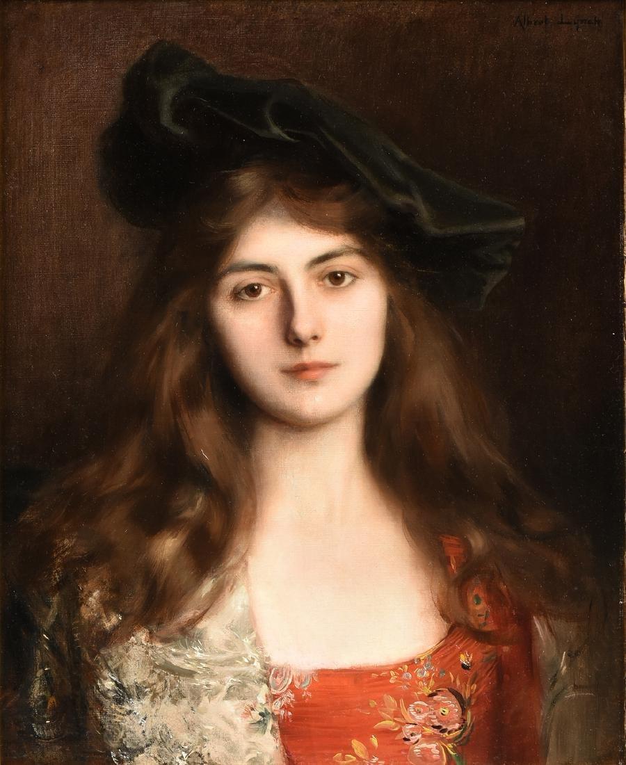 "ALBERT LYNCH (Peruvian 1851-1912) A PAINTING, ""Portrait"