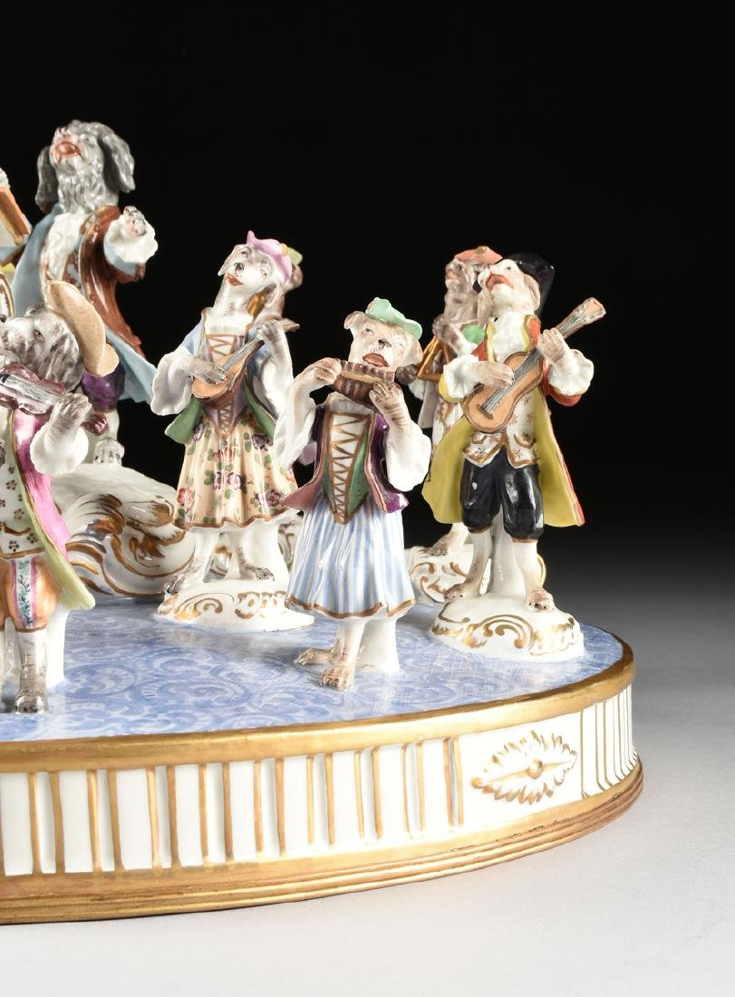 A LARGE FRENCH PAINTED PORCELAIN FIGURAL GROUP OF THE - 5