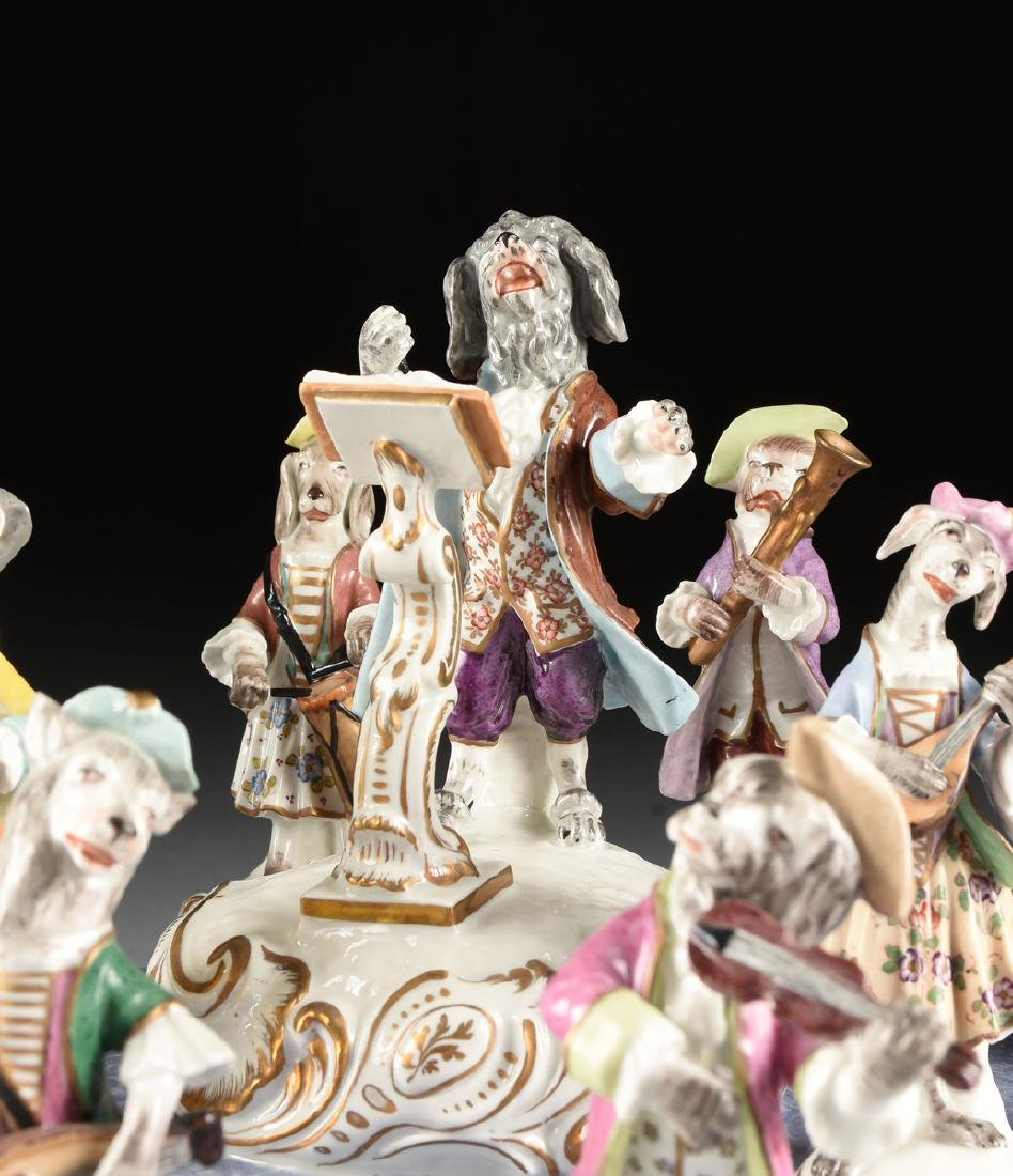 A LARGE FRENCH PAINTED PORCELAIN FIGURAL GROUP OF THE - 6