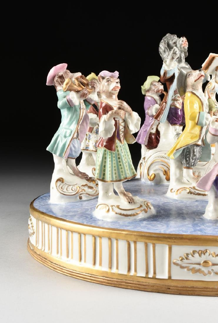 A LARGE FRENCH PAINTED PORCELAIN FIGURAL GROUP OF THE - 8