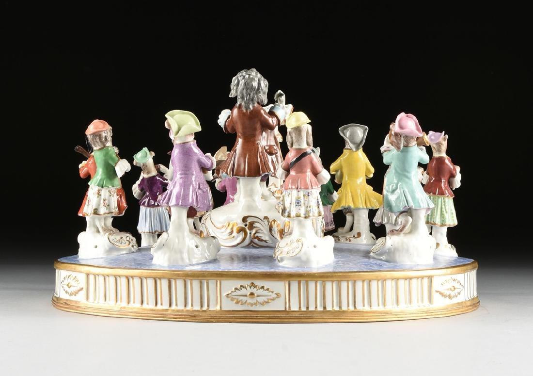 A LARGE FRENCH PAINTED PORCELAIN FIGURAL GROUP OF THE - 9