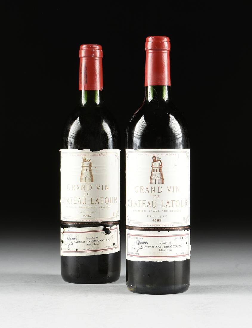 A GROUP OF TWO BOTTLES OF 1983 GRAND VIN DE CHÂTEAU