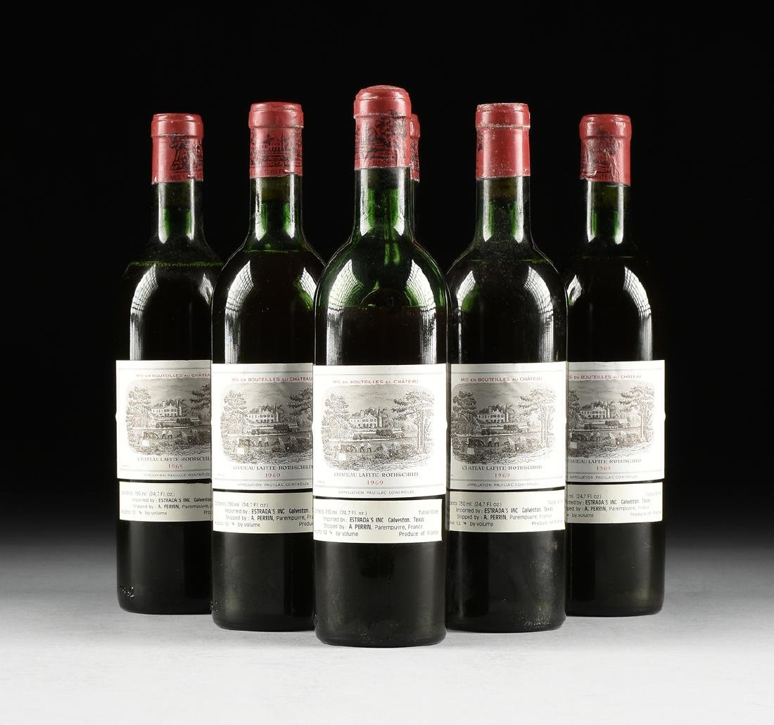 A GROUP OF SIX BOTTLES OF 1969 CHÂTEAU