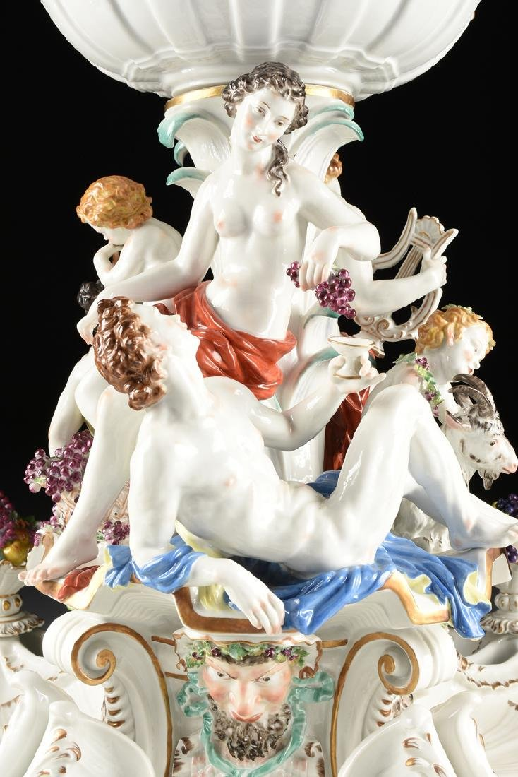 A FIVE PIECE DRESDEN GILT AND PAINTED PORCELAIN FIGURAL - 2