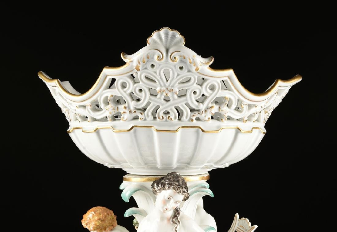 A FIVE PIECE DRESDEN GILT AND PAINTED PORCELAIN FIGURAL - 5