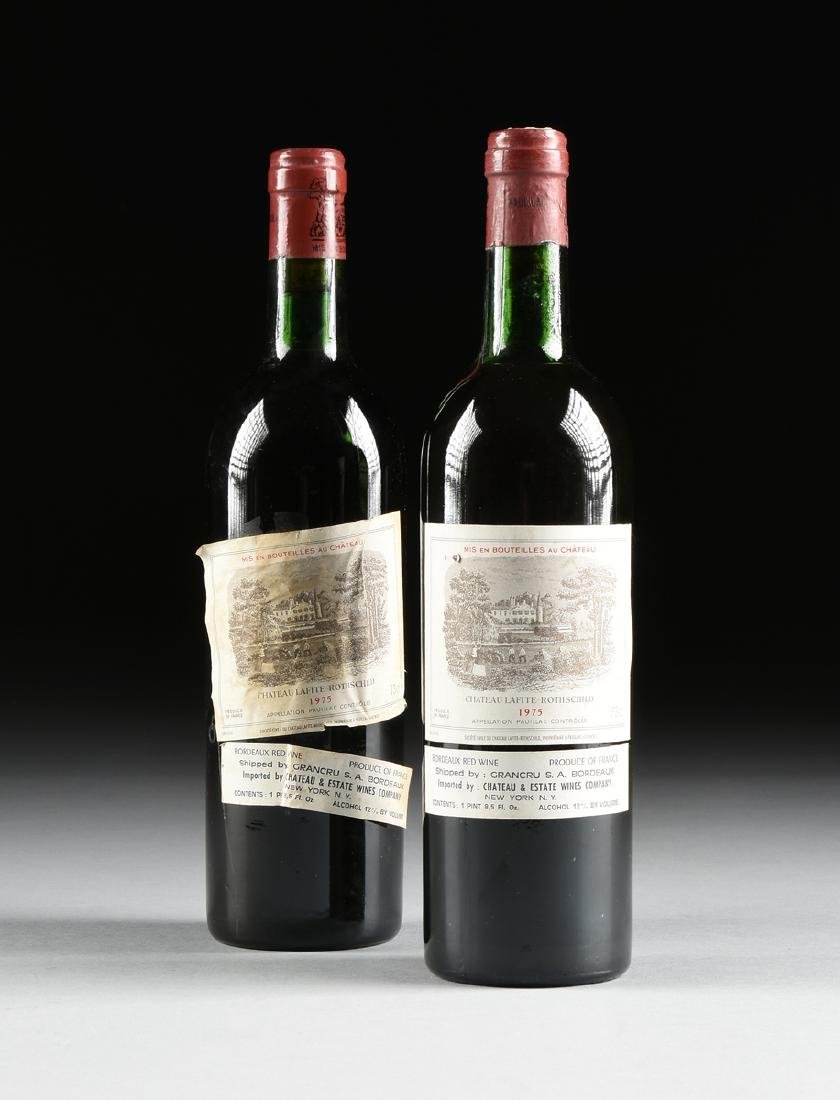 TWO BOTTLES OF 1975 CHÂTEAU LAFITE-ROTHSCHILD,