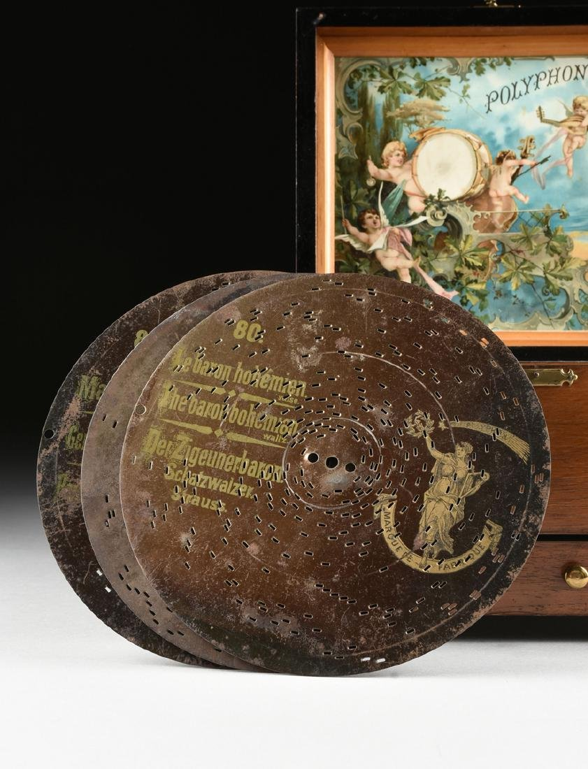 A GERMAN POLYPHON SINGLE COMB MUSIC DISC AND BELL BOX, - 2