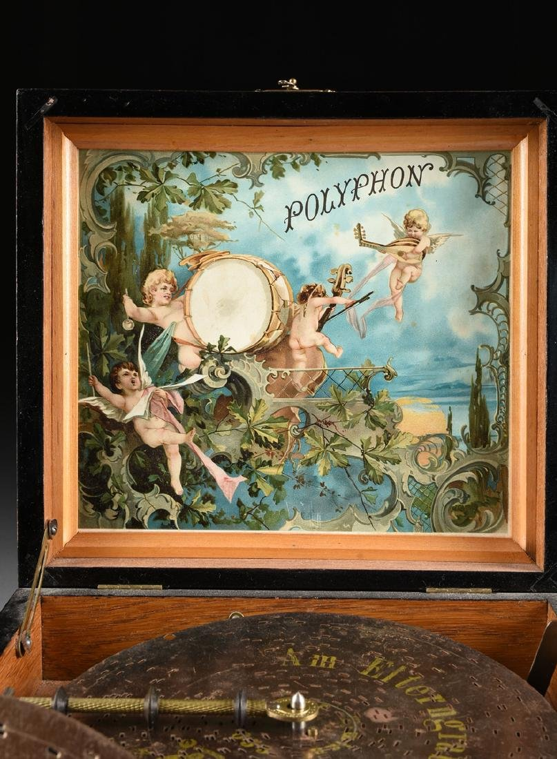 A GERMAN POLYPHON SINGLE COMB MUSIC DISC AND BELL BOX, - 3