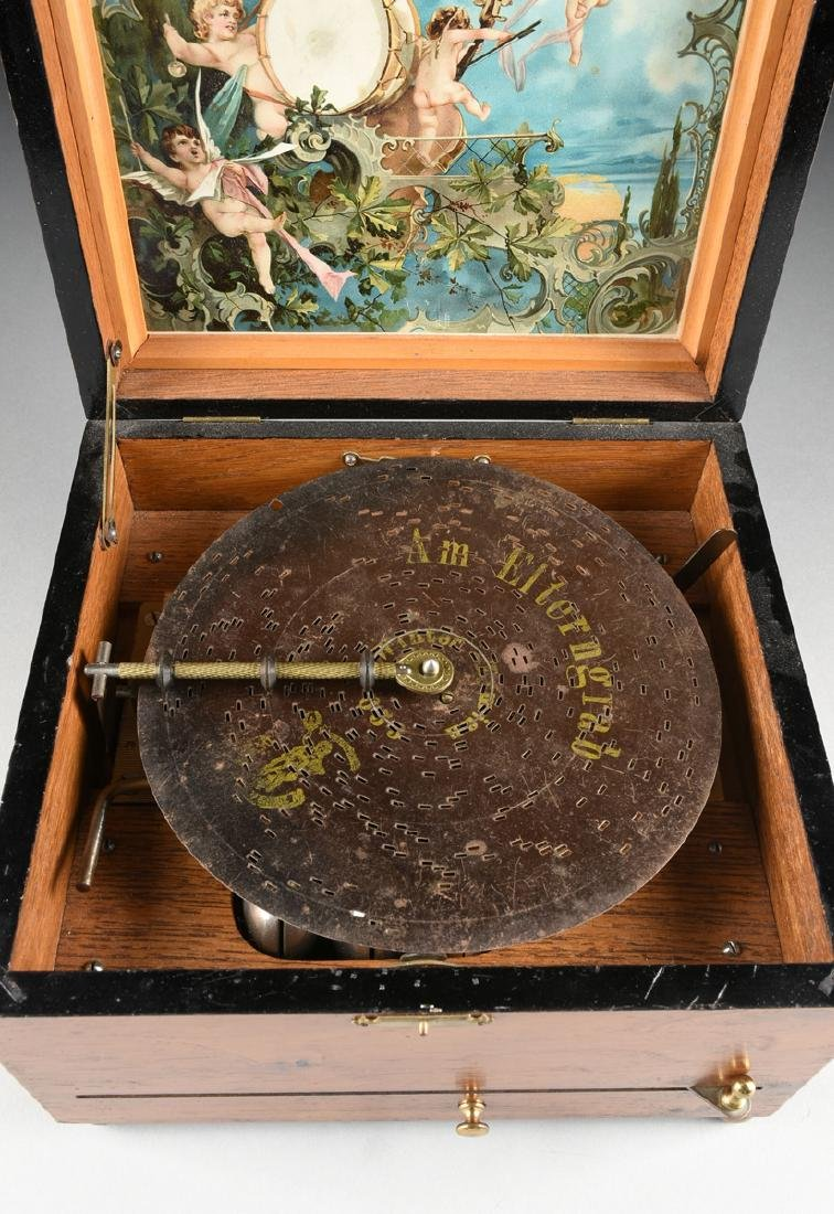 A GERMAN POLYPHON SINGLE COMB MUSIC DISC AND BELL BOX, - 4