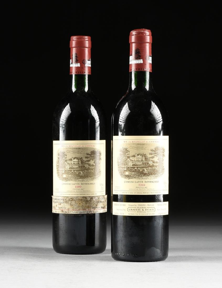 A GROUP OF ONE 1988 AND ONE 1989 BOTTLE OF CHÂTEAU