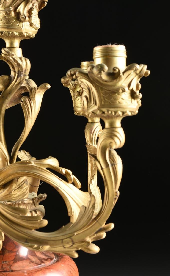 A PAIR OF LOUIS XV STYLE GILT METAL MOUNTED ROUGE - 2