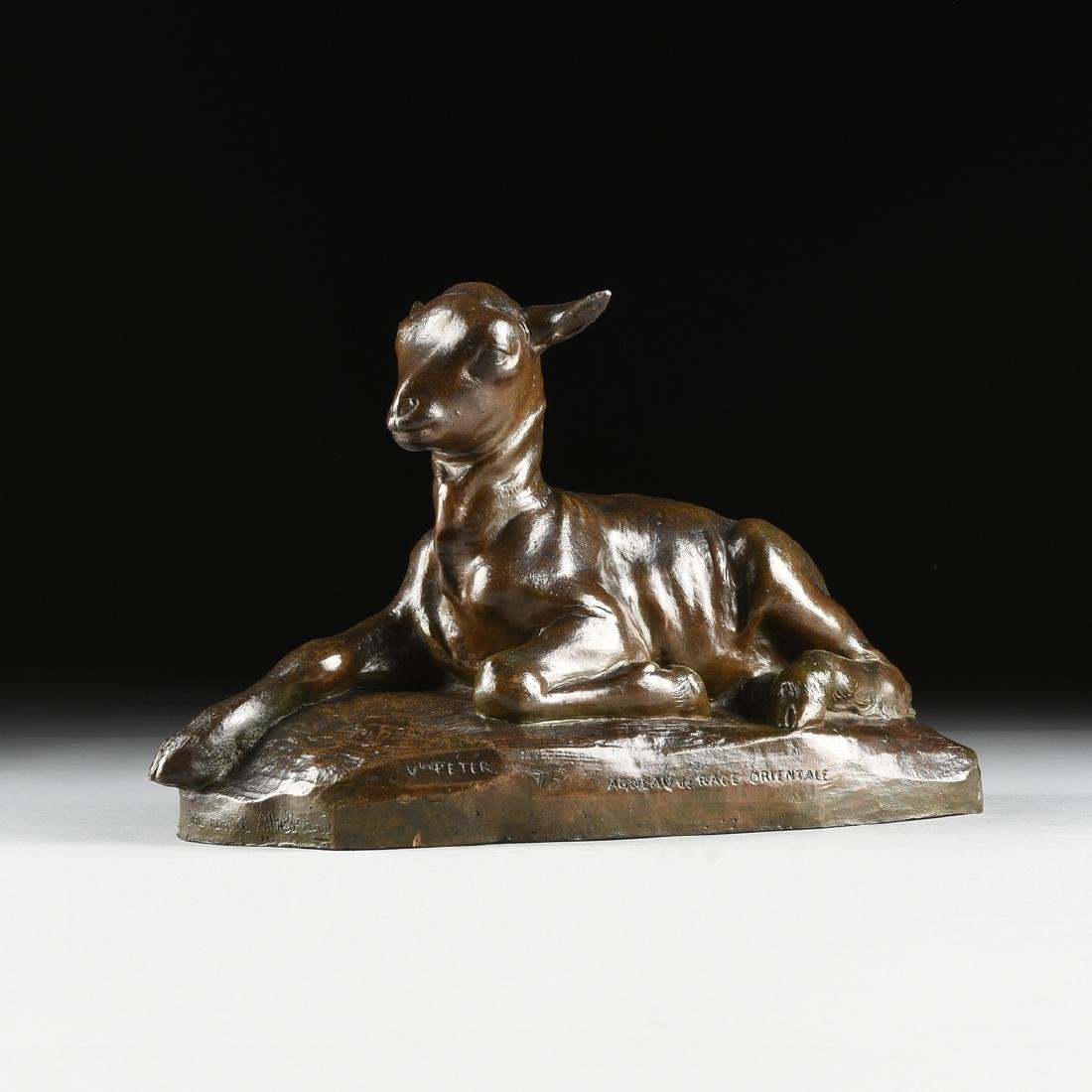 VICTOR PETER (French 1840-1918) A BRONZE SCULPTURE, - 7