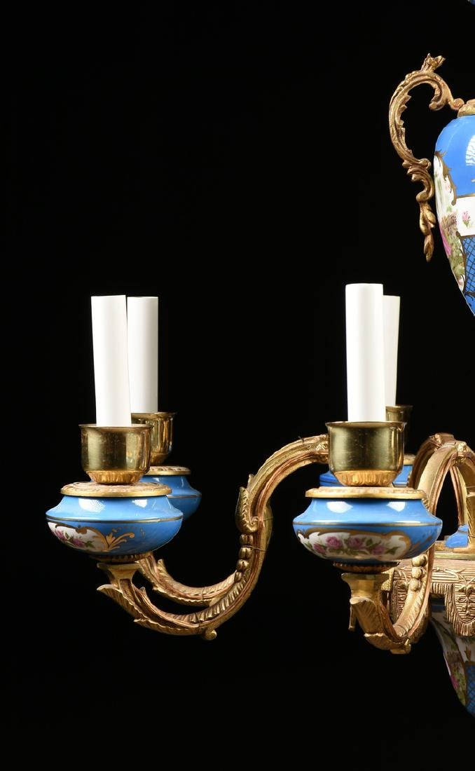 A FRENCH LOUIS XV STYLE GILT BRONZE MOUNTED GILT AND - 5